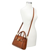Women's Satchel Handbag with Gold Toggle