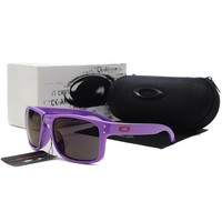 READY STOCK Oakley Original Unisex Sunglasses Frogskins Purple Gray Lens oak