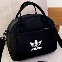 Adidas New fashion letter leaf print shoulder bag crossbody bag handbag Black