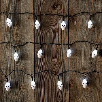 X2 Product Works UltraLED Battery Operated Skull Cap Twinkle Light String, 8-FT