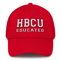 HBCU Educated, Red, Black, and White - Dad Cap