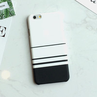 Zebra Stripe Case For iphone 6 Case Hard White Black Blue Cover Case for iPhone 6S 6 Plus 5 5S Protect Phone Cases Coque Capa -004-05-Girllove100