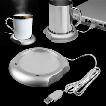 2016 new arrival sale stock USB Insulation Coaster Heater Heat Insulation electric multifunction Coffee Cup Mug Mat Pad