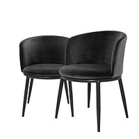 Black Dining Chair Set Of 2 | Eichholtz Filmore