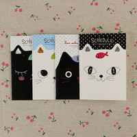 1pcs Korean Stationery Notebook Office Supplies School Creative Cartoon Cat Style Filofax Notepad Diary Students