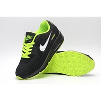 NIKE AIR MAX 90 fashion ladies men running sports shoes sneakers F-PS-XSDZBSH  Black + fluorescent green