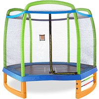 Pure Fun Jump and Play 7-Foot Trampoline Set, Indoor or Outdoor