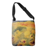 Sunflowers, Floral Painting Tote