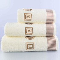 Towel Sets 3pcs/lot Embroidered Cotton Bath Towels