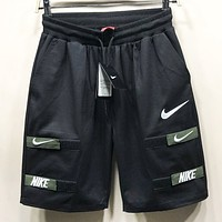 NIKE New fashion embroidery letter hook shorts Black