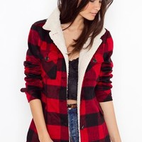 Seattle Shearling Jacket in Clothes at Nasty Gal