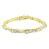 Womens Bracelet 14K Gold Tone Lab Diamonds Elegant Christmas Sale Brand New Gift