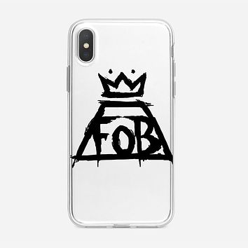 Fall Out Boy White iPhone XS Case