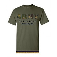 Israelite Army Of The Lord Short Sleeve T-shirt With Fringes