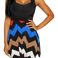 Poster (Blue/Multi)-Great Glam is the web's best online shop for trendy club styles, fashionable party dresses and dress wear, super hot clubbing clothing, stylish going out shirts, partying clothes, super cute and sexy club fashions, halter and tube tops