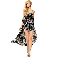 Moonlight Floral Maxi Romper