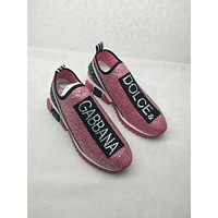 Dolce e Gabbana Women's Pink Fashion Sports Shoes and Leisure Shoes