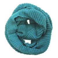 Wrapables Thick Knitted Winter Warm Infinity Scarf - Turquoise and Blue