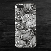 Geometric Weave Black and White iPhone 4 and 5 Case