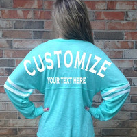 Custom LIGHTWEIGHT V-neck Jersey made for you!!!  You choose the color, font and text!