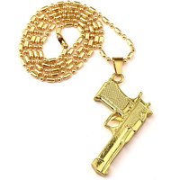 Desert Eagle Pendant and Chain