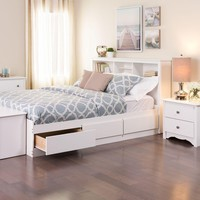 Prepac Monterey Full Wood Storage Bed-WBD-5600-3K - The Home Depot