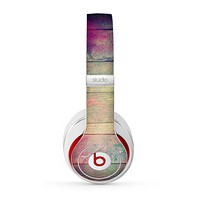 The Pink & Blue Grunge Wood Planks Skin for the Beats by Dre Studio (2013+ Version) Headphones
