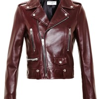 Leather Biker Jacket - SAINT LAURENT
