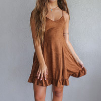 Nothing Compares Suede Dress