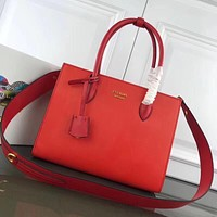 prada women leather shoulder bags satchel tote bag handbag shopping leather tote crossbody 256