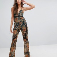 PrettyLittleThing Paisley Print Jumpsuit at asos.com