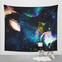 Planet Aura Wall Tapestry by Haroulita | Society6