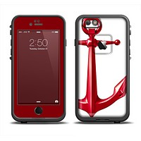 The Red Glossy Anchor Apple iPhone 6 LifeProof Fre Case Skin Set