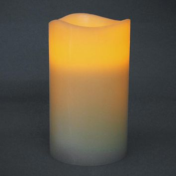 Flameless Frosted Candle LED Light, Ivory, 6-Inch x 3-Inch
