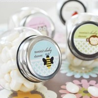 96PC EB2029A Baby Animals Personalized Candy Jars Wedding Baby Shower Favors & A