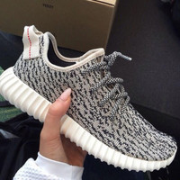 Gray Yeezy Boost Sneakers Running Sports Shoes