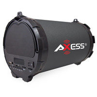 """Axess Passive HIFI Bluetooth 2.1 Speaker with 5.25"""" Subwoofer and 3"""" Horn- Black"""