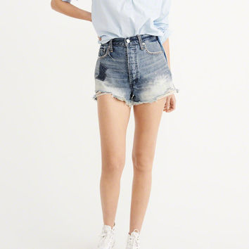 Womens High-Rise Patch Shorts | Womens Bottoms | Abercrombie.com