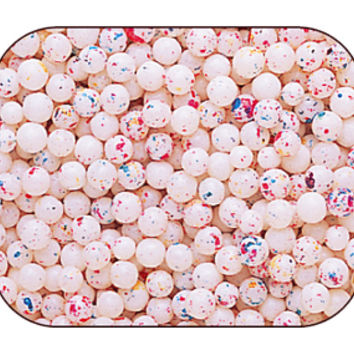 Micro Psychedelic White 1/4-Inch Jawbreakers: 10LB Case