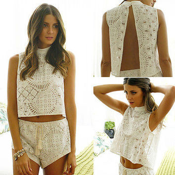 2pcs Boho short set
