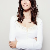 Free People Womens French Kiss Henley