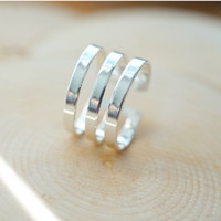 A Knuckle Midi Silver Ring