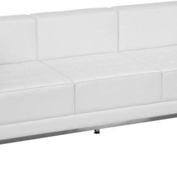 Imagination Series Contemporary Leather Sofa with Encasing Frame