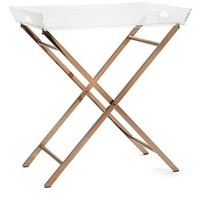 Parkside Clear Acrylic Folding Accent Table