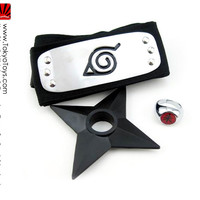 "Naruto: ""Headband - Leaf Headband + Itachi Ring + Shuriken Set"" : TokyoToys.com: UK Based e-store, Anime Toys Retail & Wholesale, Manga Action Figures,  Hentai Statues, Japanese Snacks, Pocky, DVDs, Gashapon,  Cosplay, Monkey Shirt, Final Fantasy, Bleach,"