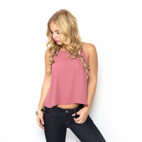 Take Out Tank Blouse In Pink