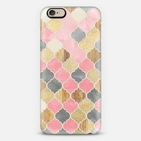 Silver Grey, Soft Pink, Wood & Gold Moroccan Pattern iPhone 6 case by Micklyn Le Feuvre | Casetify