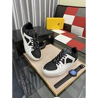 FENDI  Men Fashion Boots fashionable Casual leather Breathable Sneakers Running Shoes06150ff