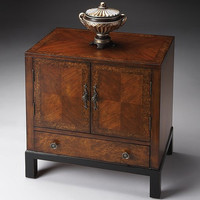 Butler Specialty Cherry & Burl Accent Cabinet - 7008225