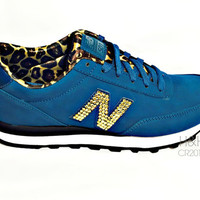 """New Balance """"501"""" Sneaker with hand placed Swarovski crystal detail on outside logo's"""